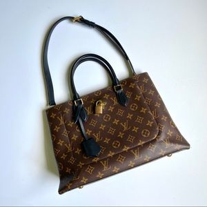 Louis Vuitton Monogram Flower Tote Black
